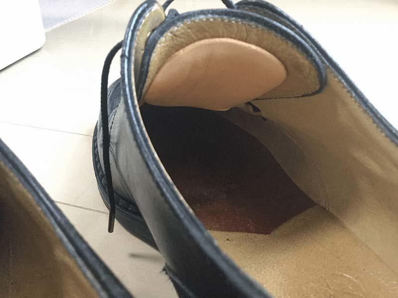 タンパッドで革靴のサイズ調整3