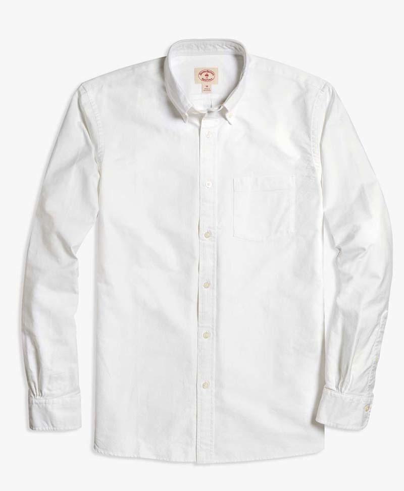 レッドフリースボタンダウンシャツ