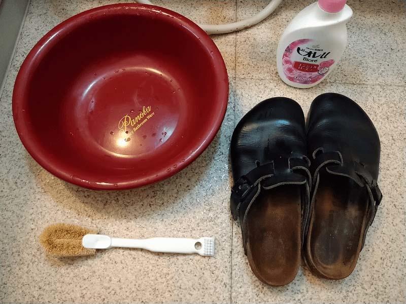 ビルケンフットベッド洗い方1