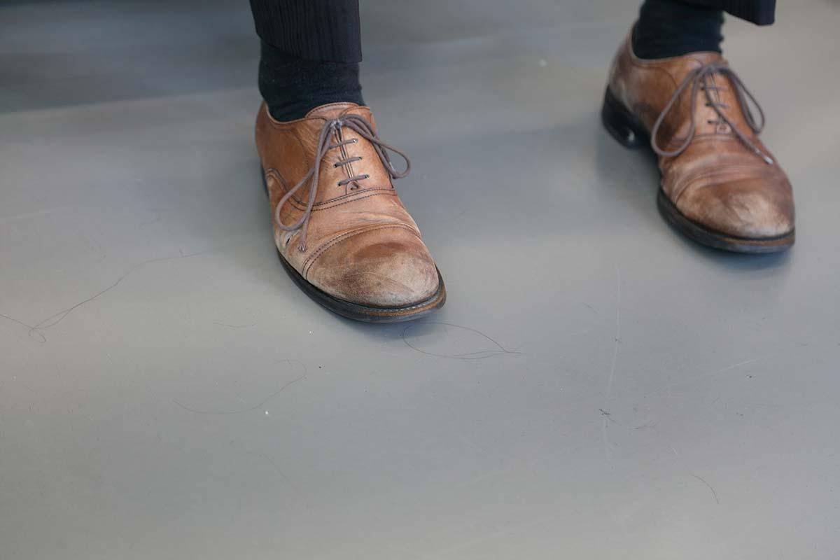 筋トレと靴磨き4