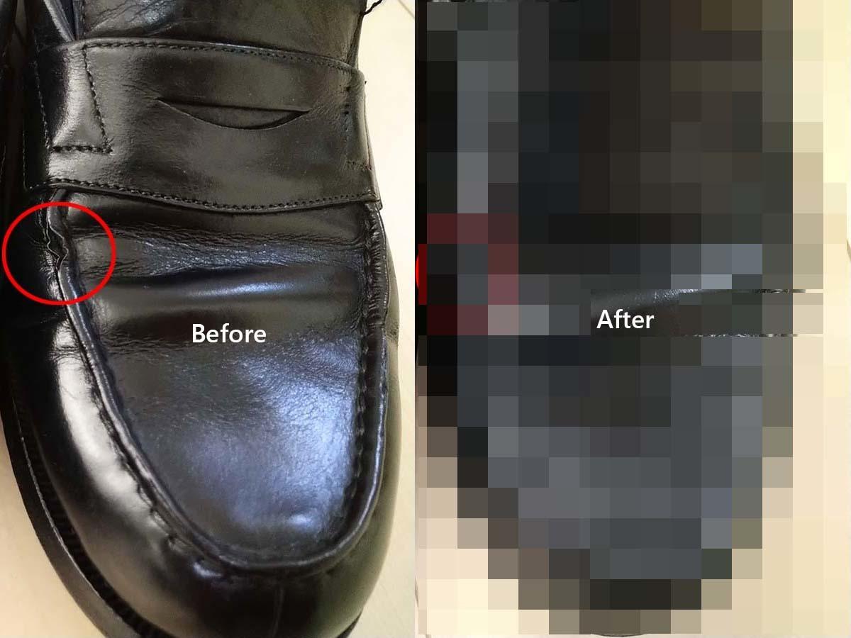【DIY】コインローファーのモカ割れの修理方法|神匠 ダイアボンド