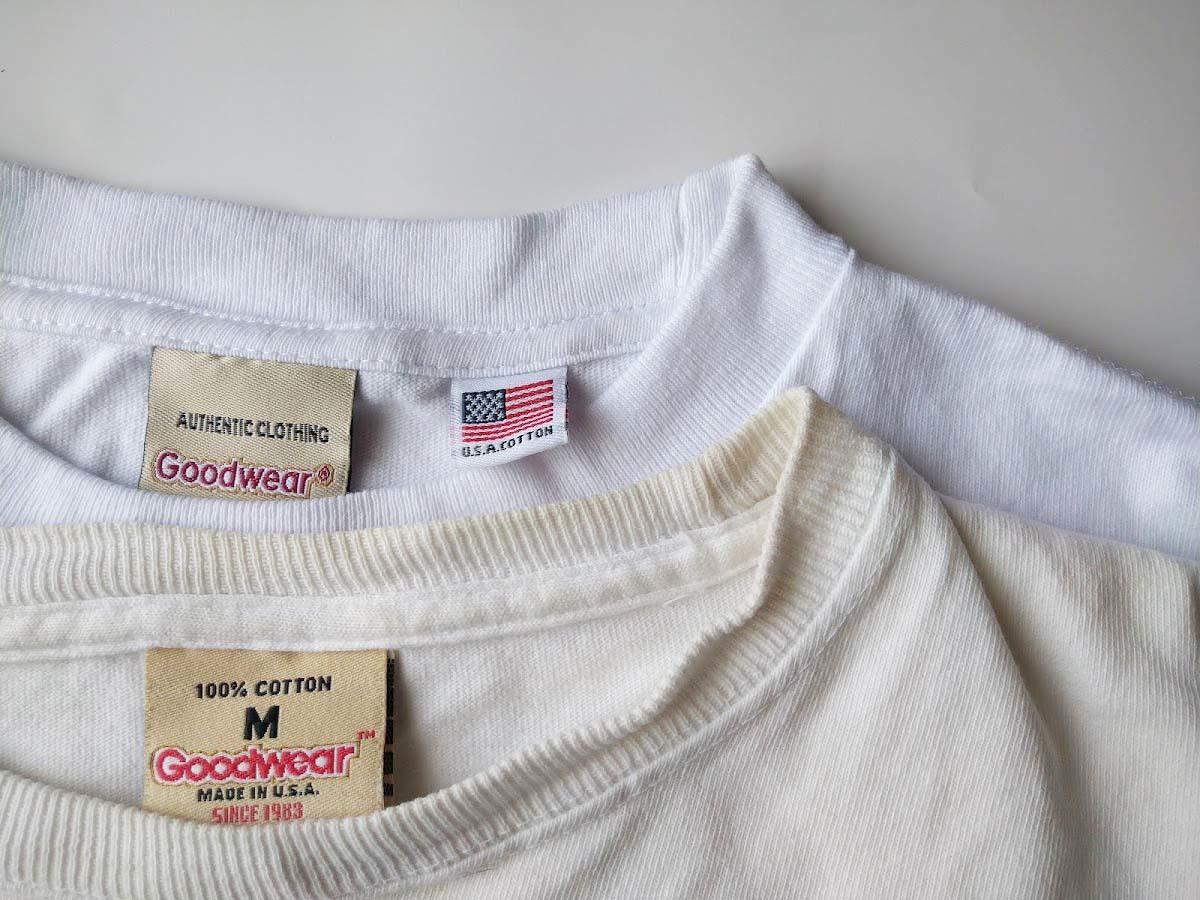 白いTシャツの黄ばみ