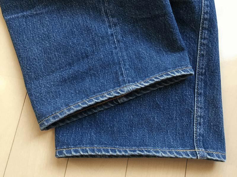 【リペア&カスタム】購入から5年後の裾上げとアタリ出し加工(黄葉舎)|加工業者 2社比較