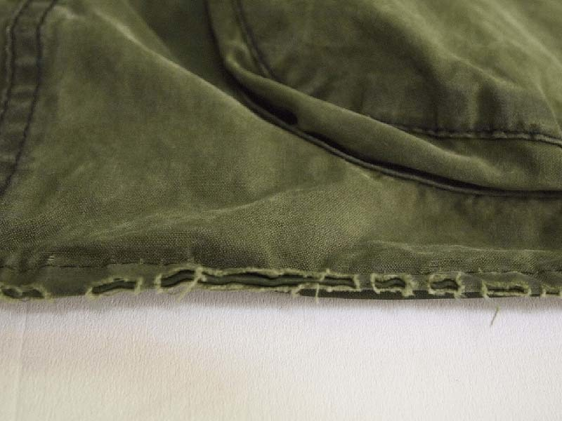 Barbour®ビデイルの裾(5年間使用)