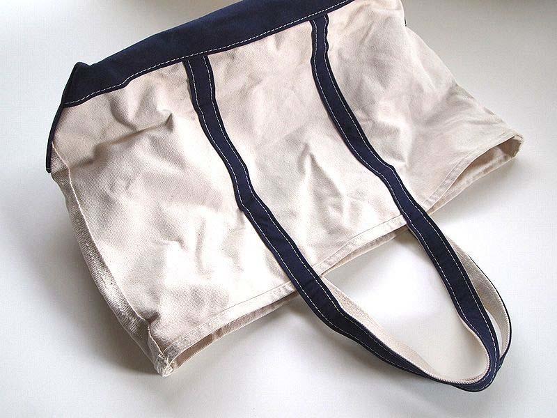 LLBeanトートバッグを洗濯して柔らかくした