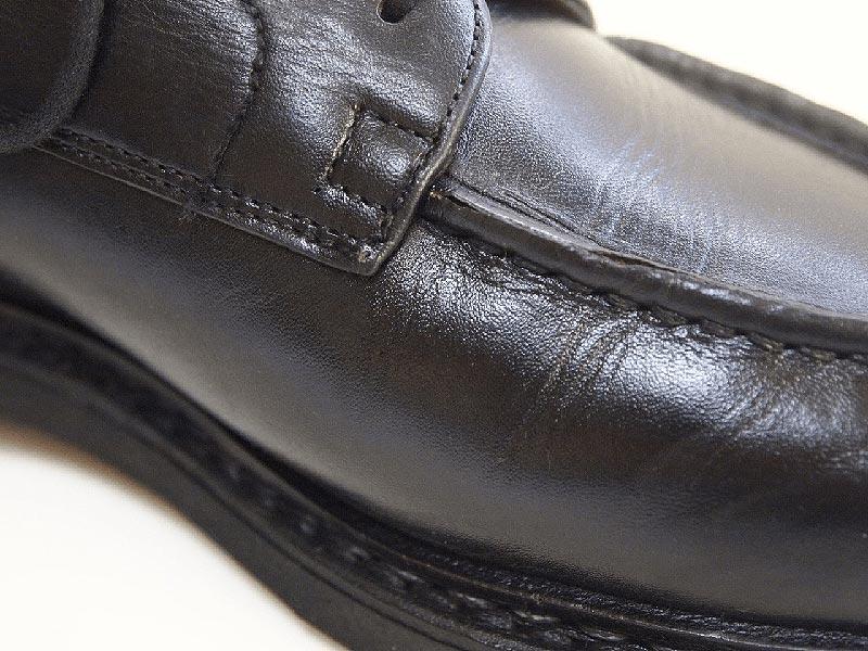 革靴の丸洗い_内側(サドルソープ不使用)写真1