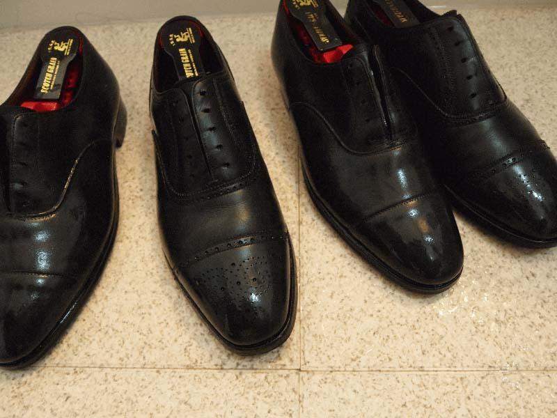 ひび割れさせない革靴の洗い方手順3