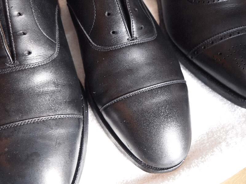 ひび割れさせない革靴の洗い方手順6
