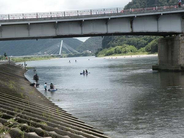 長良橋のサップ