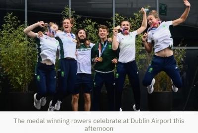 Tokyo 2020: Ireland's Olympic rowing medal winners return homeRTE