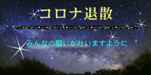 コロナ退散流れ星新幹線