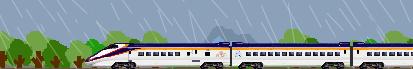 雨と新幹線つばさ