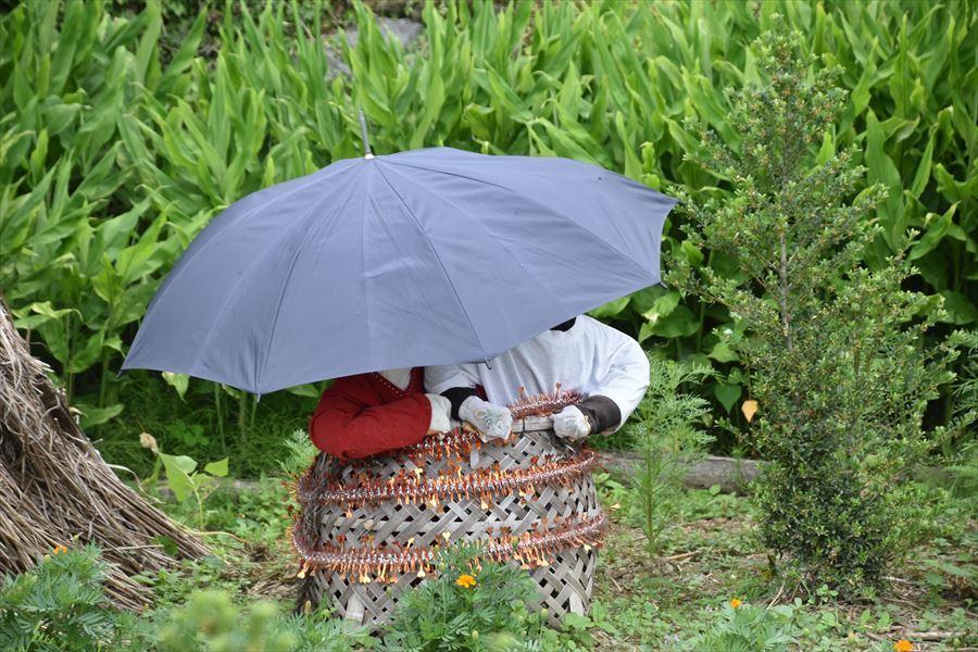 梅雨のかかし1
