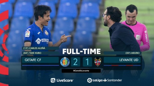 Take Kubos late winner secures safety for Getafe
