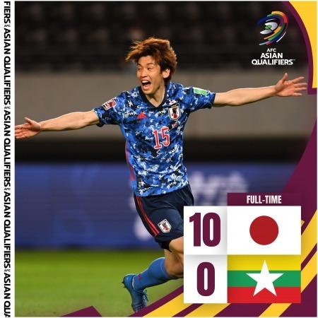 Japan 10-0 Myanmar