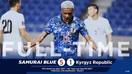 Japan [3] - 0 Kyrgyzstan Ado Onaiwu (hat-trick) goal