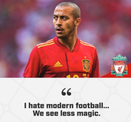 Thiago Alcantara claims hate modern football