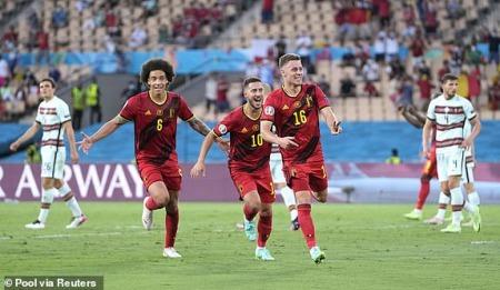 Belgium vs Portugal Thorgan Hazards long-range effort gives Roberto Martinezs side the lead