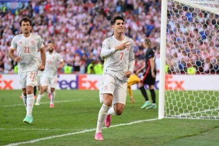 Croatia 3-[4] Spain - Álvaro Morata goal