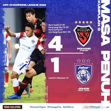 Pohang Steelers 4-1 Johor Darul Ta'zim