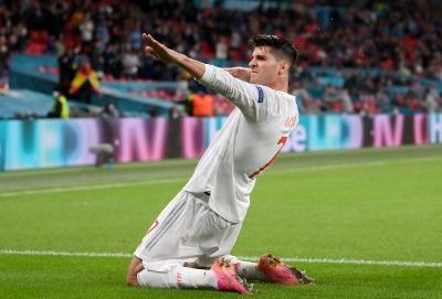 Italy 1 - [1] Spain - Alvaro Morata goal