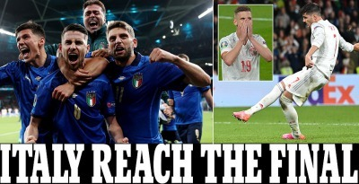 Italy are in the Euro 2020 final