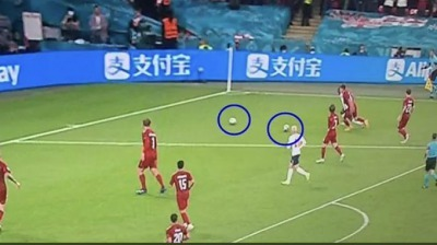 2nd ball on the pitch and no one noticed