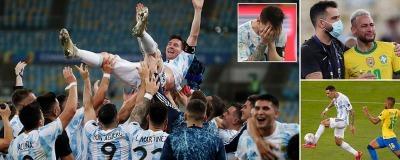 Argentina] have won the 2021 Copa América