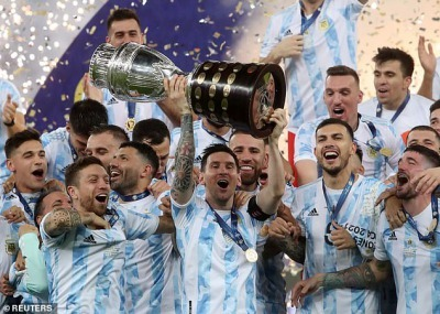 Argentina 1-0 Brazil Lionel Messi FINALLY wins an international title with his country