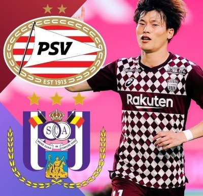 Vissel Kobes Kyogo Furuhashi has received offers from PSV Eindhoven and Anderlecht