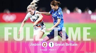 Japan 1 vs 0 Great Britain Tokyo Olympic Womens Soccer