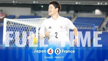 France U23 0-4 Japan U23 Tokyo Olympics
