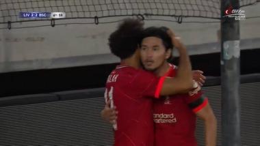 Liverpool 2-2 Hertha Berlin - Minamino goal