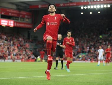 Liverpool 1-0 Osasuna - Takumi Minamino goal