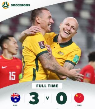Australia 3-0 China Qatar WC Qualification Asia, Round 1
