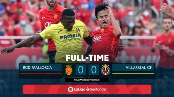 Plenty of chances but it ends goalless between Mallorca 0 - 0 Villarreal kubo