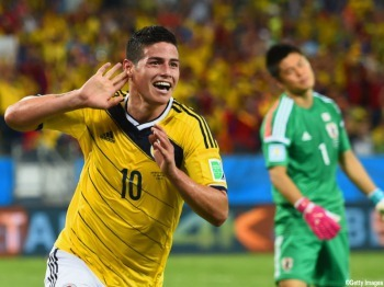 2014 FIFA World Cup - James Rodriguez goal vs Japan