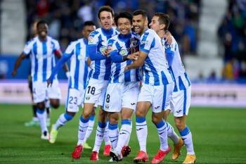 Shibasaki Gaku goal Leganés 1_1 CD Lugo