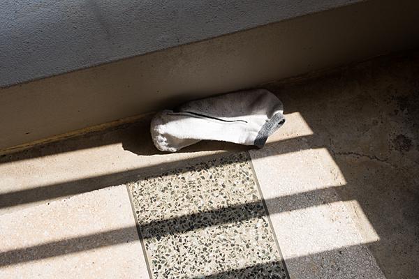 落ちた靴下