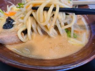 東横白根 白味噌野菜ラーメン 麺スープ