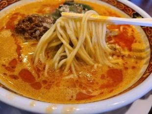 かなみ屋女池 担々麺ランチ 麺スープ