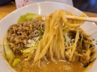 松香 濃厚担々麺 麺