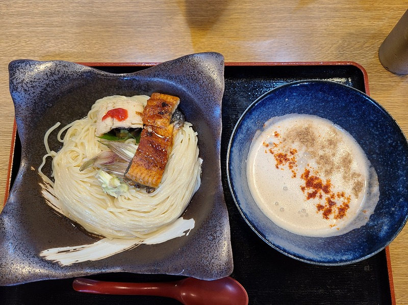 おこじょ 国産鰻と鱧のつけ麺