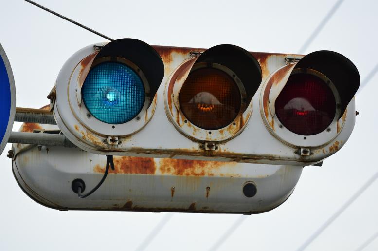 【日本信号】2代目丸型(群馬濃色レンズ) 【群馬県沼田市・馬喰町付近】