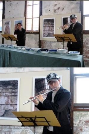 煉瓦館フルート演奏withオカリナ(2007-12-15)