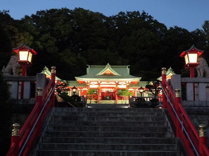 織姫神社ライトアップ