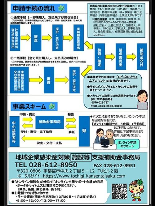 <栃木県 地域企業感染症対策支援補助金(2種類)>公募中!④