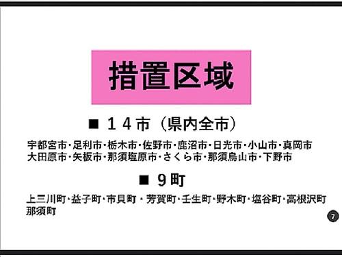 政府「まん延防止等重点措置」適用地域に栃木県等を追加/栃木県の対応⑦