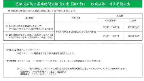 栃木県より「緊急事態宣言」における対応・協力要請について②