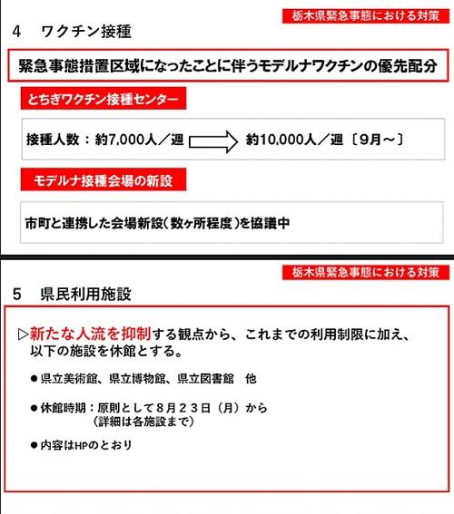 栃木県 新型コロナ対策/緊急事態宣言⑦
